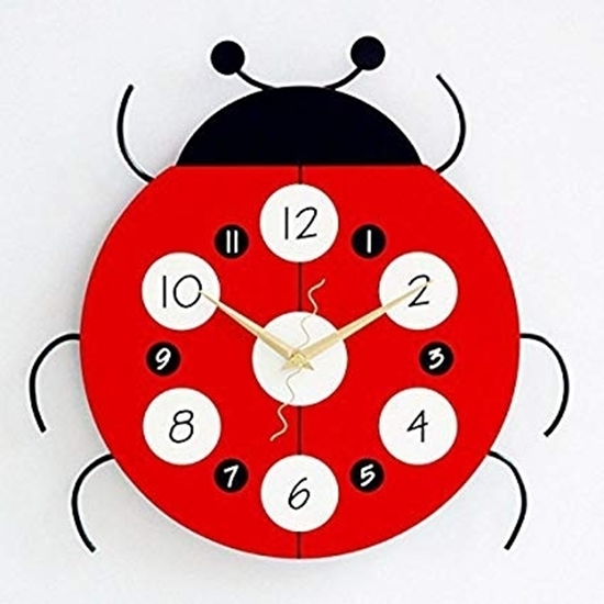 Picture of Lady Bug Creative Clock - 33 x 33 Cm