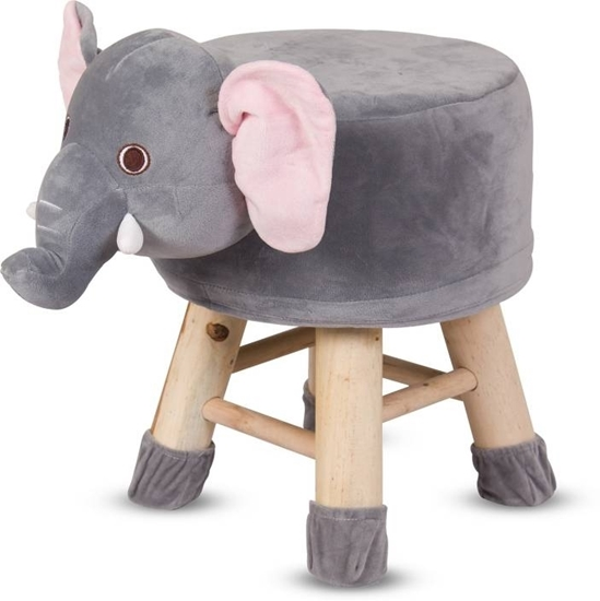 Picture of Children's Stool Solid Wood Elephant Shape - 28 x 32 Cm