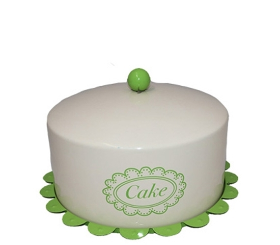 صورة Cake Tin with Lid Food Carrier - 29 x 16.5 Cm