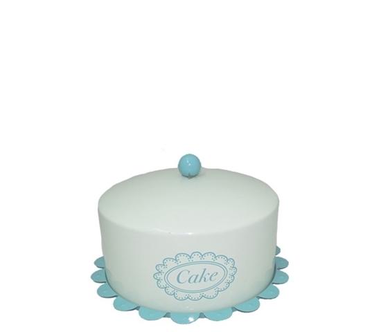 صورة Cake Tin with Lid Food Carrier - 25 x 12 Cm