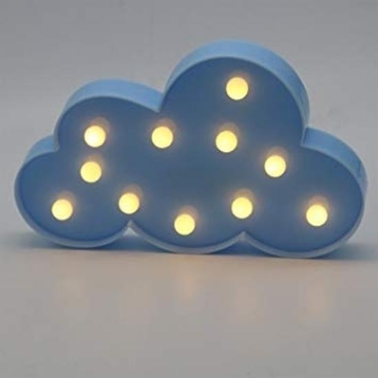 صورة LED Night Light Cloud - 29 x 18 x 3 Cm