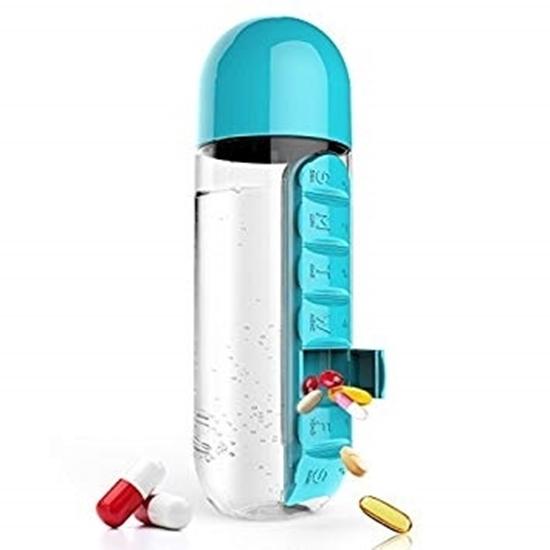 صورة زجاجة منظم الدواء من البلاستيك - قياس 24 × 8 سم