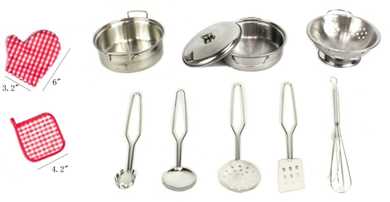 Picture of 11 PCs Stainless Steel Cookware Playset