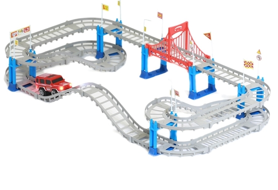 Picture of City Shuttle Track Racing Set (78 Pieces) - 45 x 38 x 6 Cm