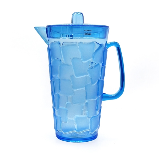 Picture of Acrylic Plastic Pitcher with Lid - 29 x 14 Cm