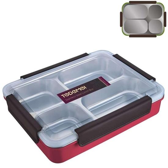 صورة صندوق غداء بتركيبات داخلية - 30 × 24 × 7 سم