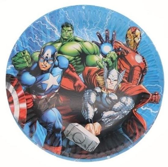 Picture of Paper Plate HEROES 10 PCs - 18 Cm