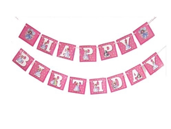 Picture of Party Banner SOPHIA - 16 Cm