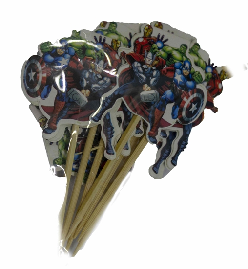 Picture of Cake Toppers HEROES 10 PCS - 9 Cm