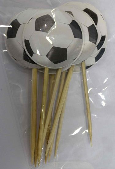 صورة Cake Toppers FOOTBALL 10 PCS - 9 Cm