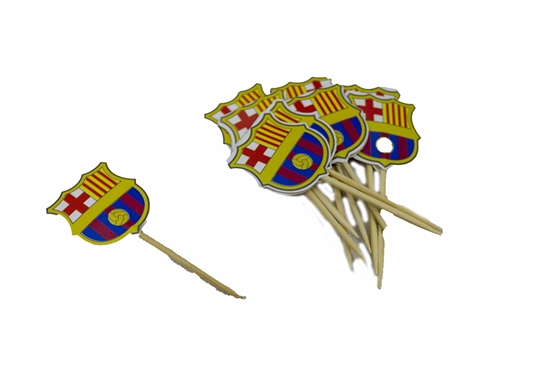 Picture of Cake Toppers BARCELONA 10 PCS - 9 Cm