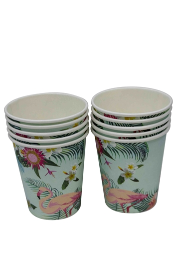 Picture of Paper Cup FLAMINGO 10 PCs - 8.2 x 7.2 Cm