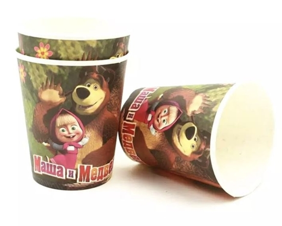 صورة Paper Cup MASHA AND THE BEAR 10 PCs - 8.2 x 7.2 Cm