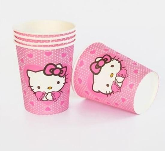 صورة Paper Cup HELLO KITTY 10 PCs - 8.2 x 7.2 Cm