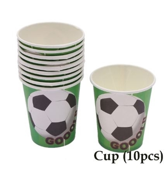 صورة Paper Cup FOOTBALL 10 PCs - 8.2 x 7.2 Cm