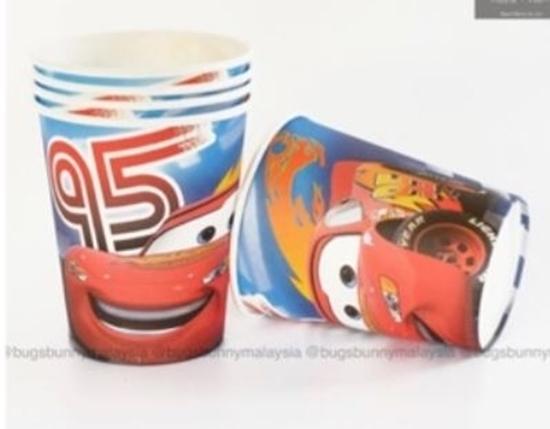 صورة Paper Cup MCQUEEN CAR 10 PCs - 8.2 x 7.2 Cm
