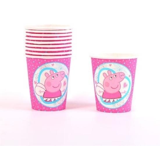 صورة Paper Cup PEPPA PIG 10 PCs - 8.2 x 7.2 Cm