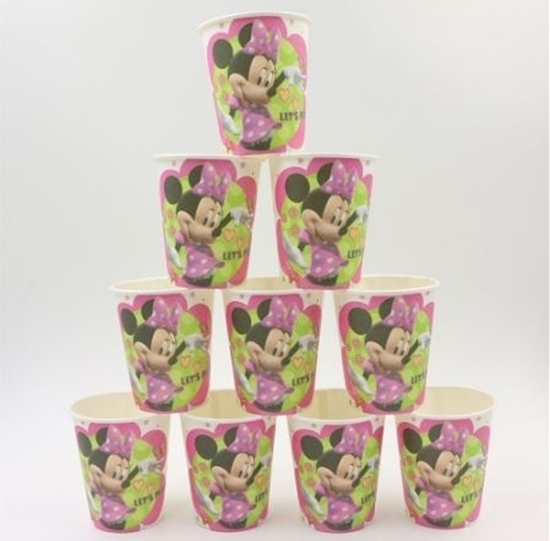 صورة Paper Cup MINNIE MOUSE 10 PCs - 8.2 x 7.2 Cm