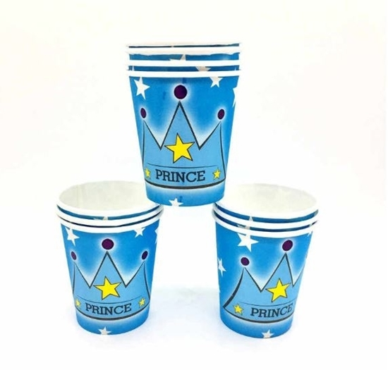 صورة Paper Cup PRINCE CROWN 10 PCs - 8.2 x 7.2 Cm