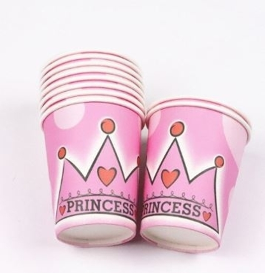 Picture of Paper Cup PRINCESS CROWN 10 PCs - 8.2 x 7.2 Cm