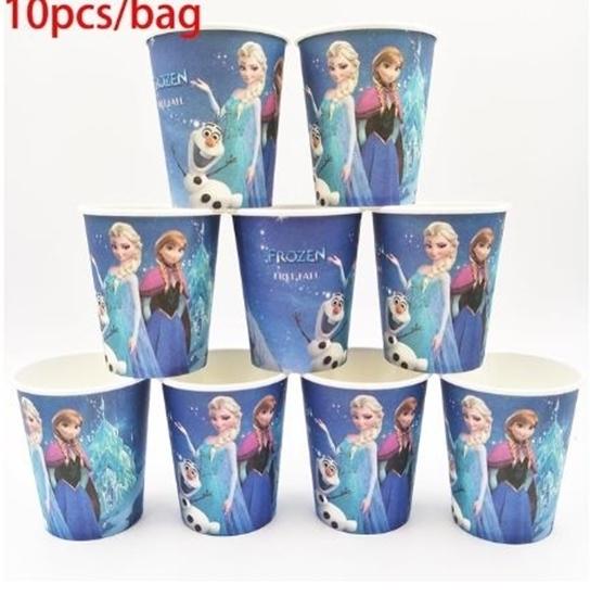 صورة Paper Cup FROZEN 10 PCs - 8.2 x 7.2 Cm