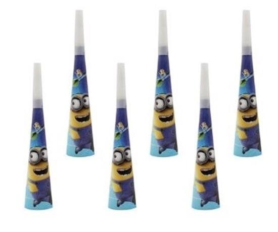 Picture of Party Horns MINION 10 PCS- 20 Cm