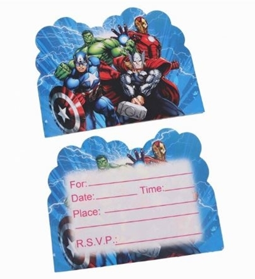 صورة Invitation Cards HEROES 10 PCs - 14 x 11 Cm