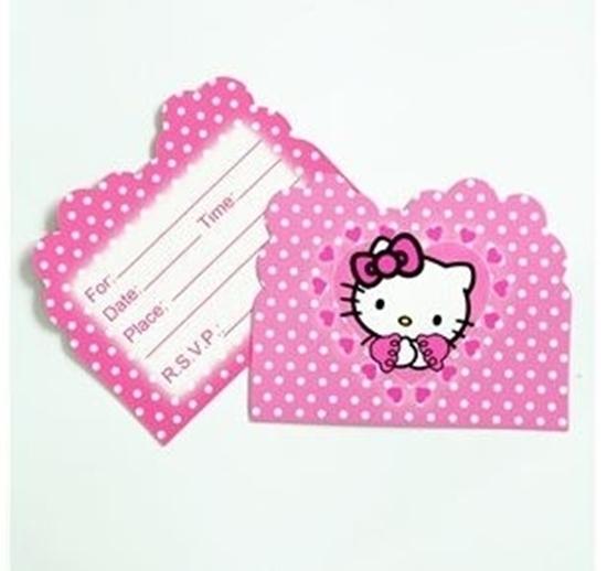 صورة Invitation Cards HELLO KITTY 10 PCs - 14 x 11 Cm