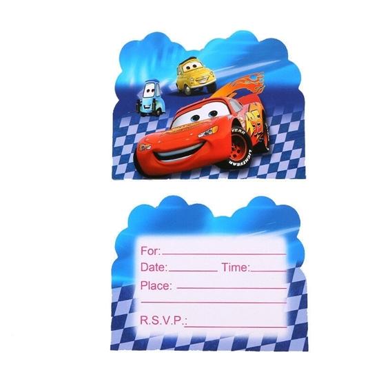 صورة Invitation Cards MCQUEEN CAR 10 PCs - 14 x 11 Cm