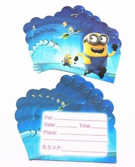 Picture of Invitation Cards MINIONS 10 PCs - 14 x 11 Cm