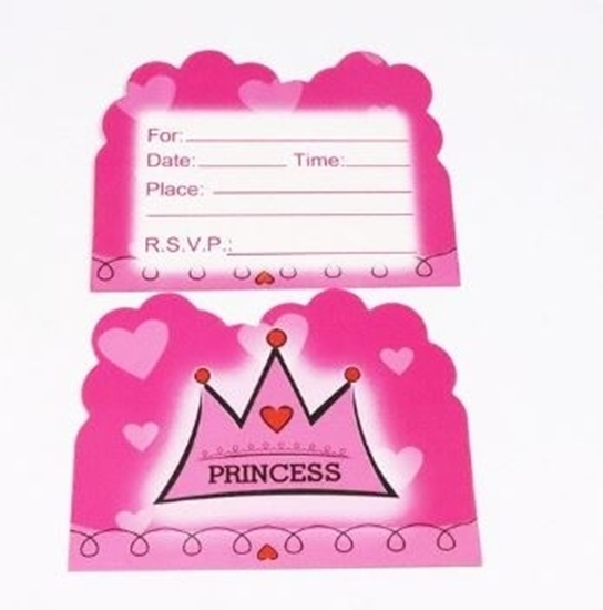 Picture of Invitation Cards PRINCESS CROWN 10 PCs - 14 x 11 Cm