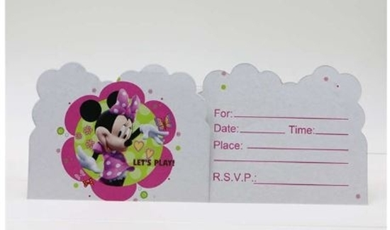 صورة Invitation Cards MINNIE MOUSE 10 PCs - 14 x 11 Cm