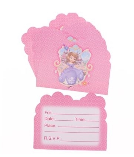 صورة Invitation Cards SOPHIA 10 PCs - 14 x 11 Cm