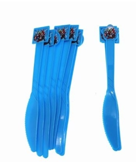Picture of Plastic Knives MY HEROES 10 PCS - 17 Cm