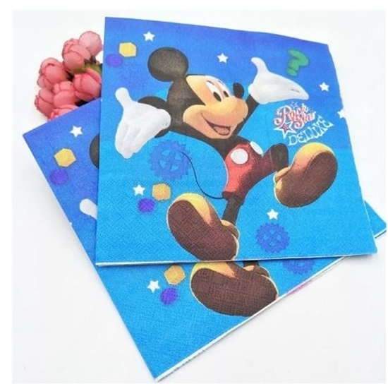 Picture of Napkins MICKEY 20 PCS - 16.4 x 16.4 Cm