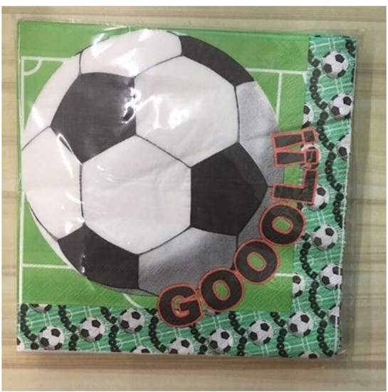 صورة Napkins FOOTBALL 20 PCS - 16.4 x 16.4 Cm