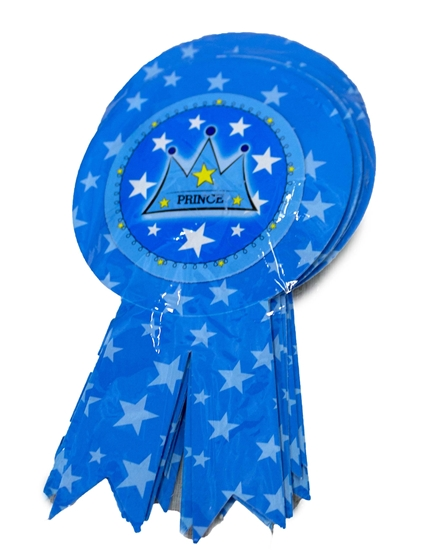 صورة Party Badge PRINCE CROWN 10 PCS - 15.5 x 9 Cm