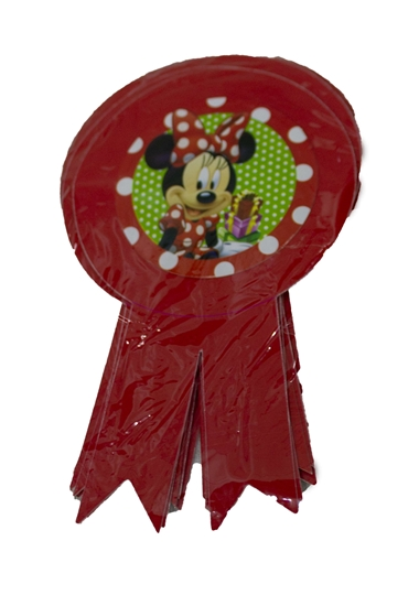 صورة Party Badge MINNIE MOUSE 10 PCS - 15.5 x 9 Cm