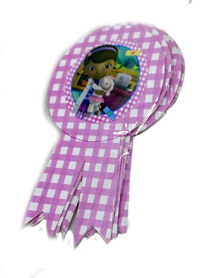 Picture of Party Badge DR MCSTUFFIN 10 PCS - 15.5 x 9 Cm
