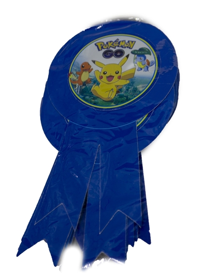 صورة Party Badge POKEMON 10 PCS - 15.5 x 9 Cm