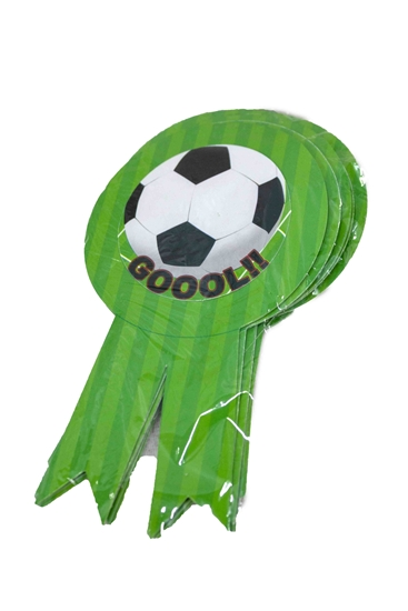 صورة Party Badge FOOTBALL 10 PCS - 15.5 x 9 Cm