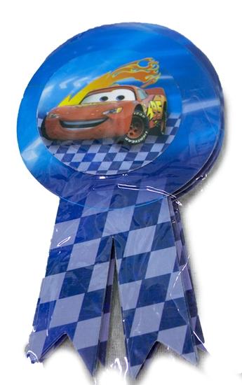 صورة Party Badge MCQUEEN CAR 10 PCS - 15.5 x 9 Cm