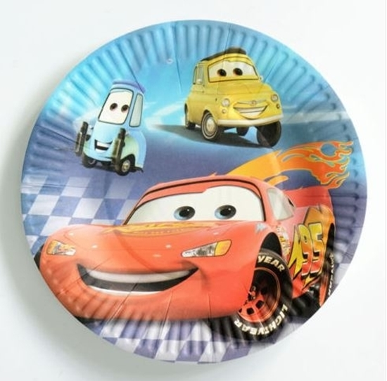 صورة Paper Plate MCQUEEN CAR 10 PCs - 18 Cm