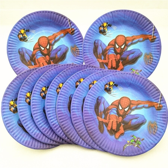 Picture of Paper Plate SPIDERMAN 10 PCs - 18 Cm