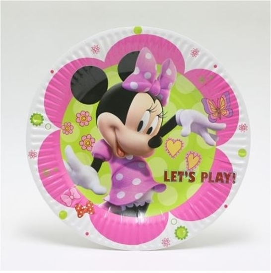 صورة Paper Plate MINNIE MOUSE 10 PCs - 18 Cm