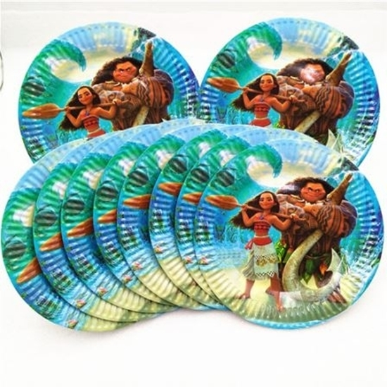 Picture of Paper Plate MOANA 10 PCs - 18 Cm