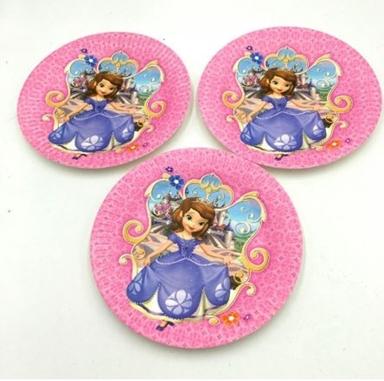 Picture of Paper Plate SOPHIA 2 / 10 PCs - 23 Cm
