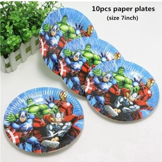 Picture of Paper Plate HEROES 10 PCs - 23 Cm