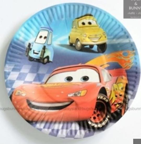 صورة Paper Plate MCQUEEN CAR 10 PCs - 23 Cm