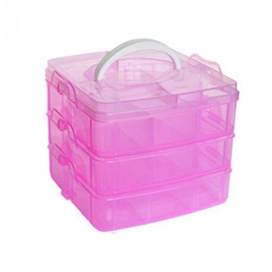 Picture of 3 Layers Detachable DIY Plastic Storage Box - 25 x 17.5 x 18.5 Cm